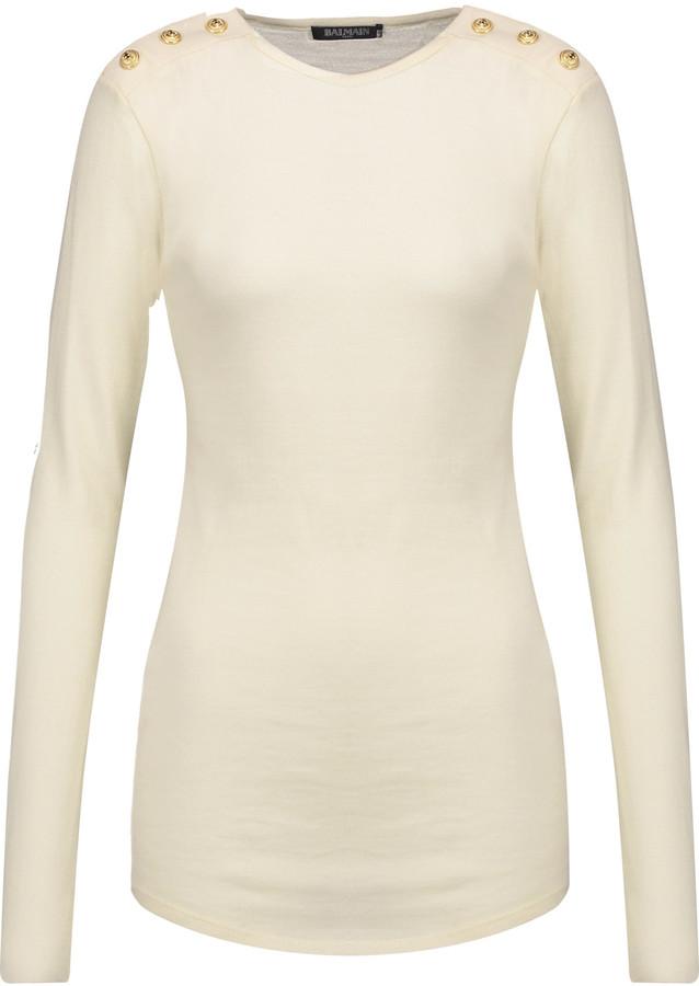 BalmainBalmain Wool and cashmere-blend sweater