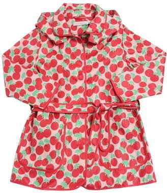 Stella McCartney Cherry Printed Cotton Canvas Rain Coat