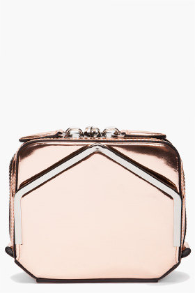 ALEXANDER WANG Adriel Metallic Clutch