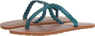 Volcom Women's Fishtail Braided T-Strap Sandal Flat