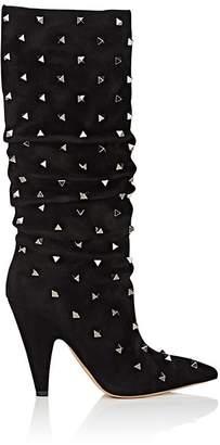 Valentino Women's Rockstud Suede Knee Boots