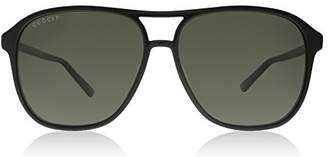 Gucci Men's Polarized GG0016S-006-58 Aviator Sunglasses