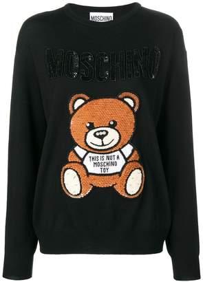 Moschino logo printed jumper