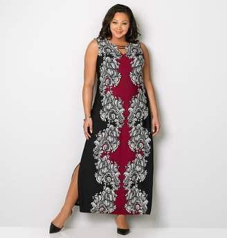 Avenue Scrolling Double Bar Maxi Dress