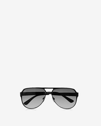 Express Black Aviator Sunglasses