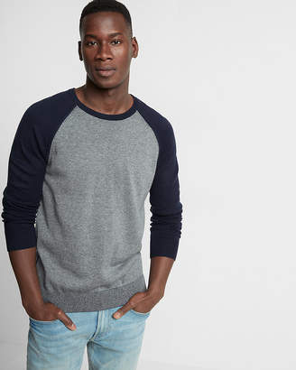 Express Plaited Reversible Crew Neck Sweater