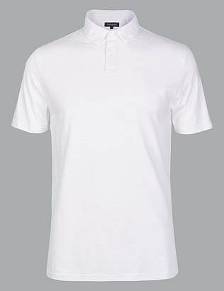 Marks and Spencer Supima® Cotton Slim Fit Polo Shirt