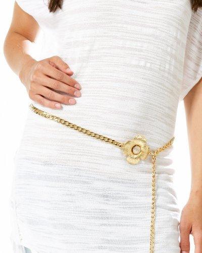 Crystal Flower Chain Belt