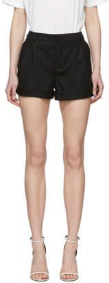 Saint Laurent Black Wool Cuffs Shorts