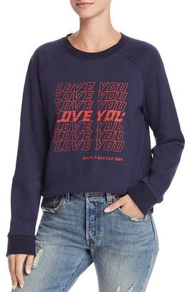 Rebecca Minkoff Jennings Love You Graphic Sweatshirt