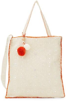 Yumi Star Viti Embroidered Tote