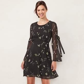 Lauren Conrad Women's Bell Sleeve A-Line Dress