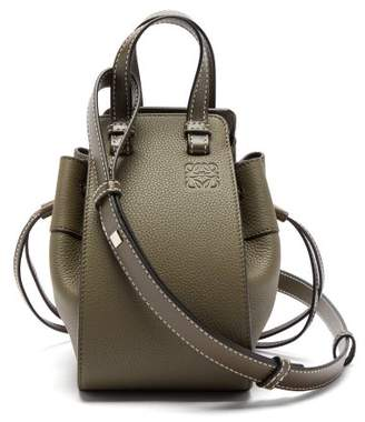 Loewe Hammock Mini Leather Bag - Womens - Khaki