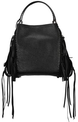 Coach Edie 42 Black Fringed Leather Tote