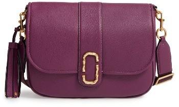 Marc Jacobs Interlock Leather Crossbody Bag - Purple