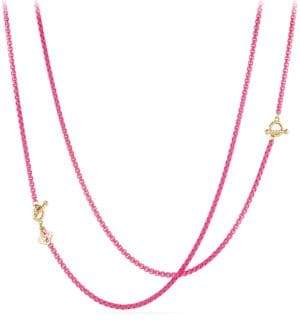 David Yurman Bel Aire 14K Gold& Enamel Chain Necklace