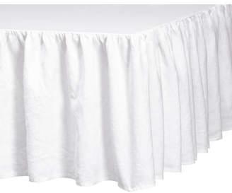 H&M Washed Linen Bedskirt - White