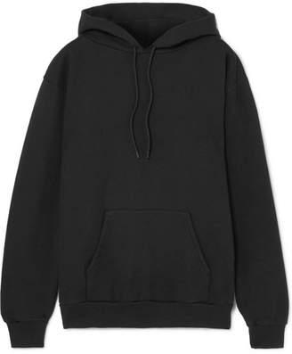 Balenciaga Appliquéd Cotton-blend Hooded Sweatshirt - Black