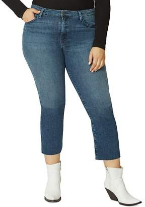 Sanctuary Curve Modern High-Rise Crop Jeans in District Blue