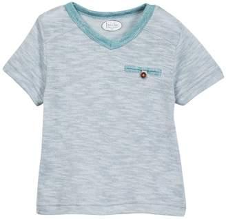 Frenchie Mini Couture Seaglass Tonal Slubbed V-Neck Tee (Baby, Toddler, Little Boys, & Big Boys)