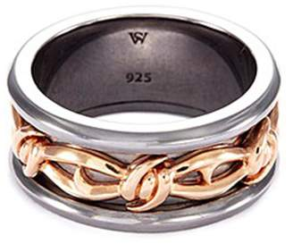 Stephen Webster 'Highwayman' rhodium rose gold silver thorn ring