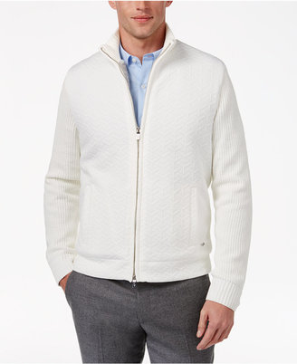Alfani Collection Men's Zip-Front Cardigan with Faux Fur Lining, Only at Macy's $159 thestylecure.com