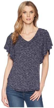 Bobeau B Collection by Mariee Flutter Sleeve Tee Women's T Shirt