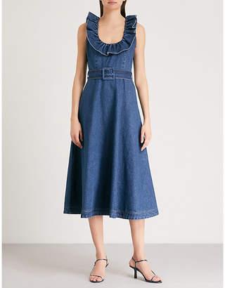 Co Ruffle-detail denim dress