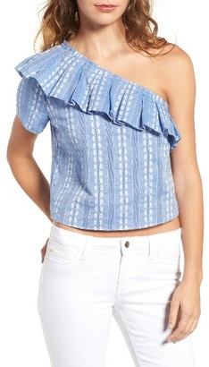 Women's Splendid Cotton One-Shoulder Crop Top $138 thestylecure.com