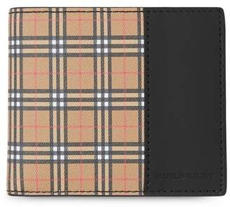 Burberry Small Scale Check and Leather Bifold Coin Wallet