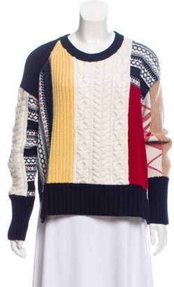 Burberry Wool and Cashmere-Blend Crew Neck Sweater