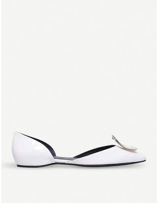 Roger Vivier D'Orsay Choc leather ballerina flats