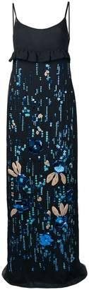Prada floral sequin maxi dress