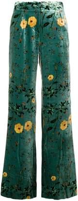 AILANTO floral print trousers