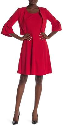 Robbie Bee 2-Piece Bell Sleeve Dress Set