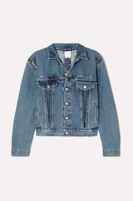 Vetements Double-sided Distressed Denim Jacket - Indigo