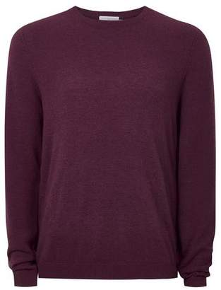 Topman Mens Red Berry Sweater With Wool And Cashmere
