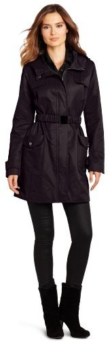 Jessica Simpson Women's Belted Gun-Flap Trench Coat