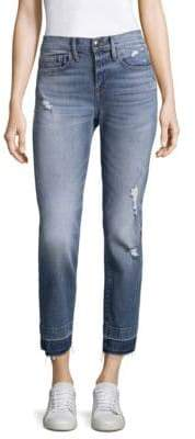 Ankle-Length Distressed Jeans