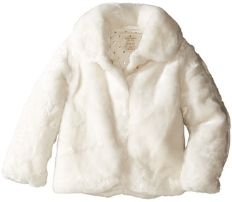 Kate Spade New York Kids - Faux Fur Jacket Girl's Coat $128 thestylecure.com