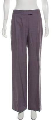 Loro Piana Virgin Wool Mid-Rise Pants Grey Virgin Wool Mid-Rise Pants
