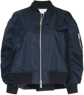Sacai zipped bomber jacket