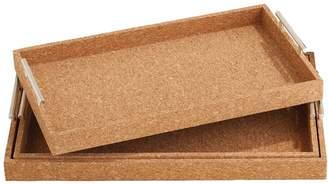 Twos Company Cork Trays (Set of 3)