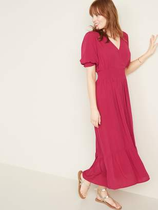 Old Navy Waist-Defined Wrap-Front Crepe Midi for Women