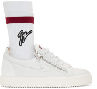 Giuseppe Zanotti Off-White May London Sock Sneakers