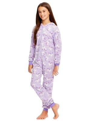 anima Jellifish Kids Girls Reindeer Pajamas | Plush Zippered Kids Animal Onesie Blanket Sleeper