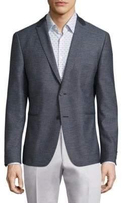 Strellson Pin Check Wool-Blend Blazer