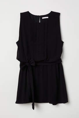 H&M MAMA Sleeveless Nursing Blouse - Black