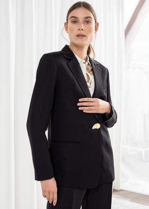 And other stories Seashell Button Oversized Blazer