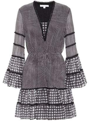 Jonathan Simkhai Checkered chiffon dress